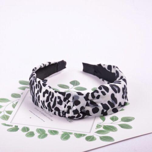 Leopard Print Chiffon Hair Bands For Women Girls Knotted Headband Lady Hair Hoop