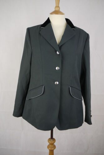 Equitheme Ladies Competition Jacket Grey Silver Size 40