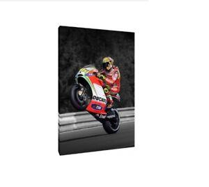 Valentino Rossi 30x20 pouces DUCATI toile-MotoGP Encadrée PHOTO PRINT Artwork  </span>