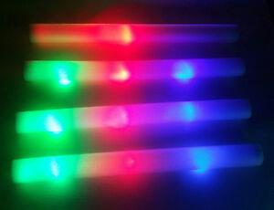 40 Pcs Light Up Foam Sticks Led Baton Flashing Multi Color