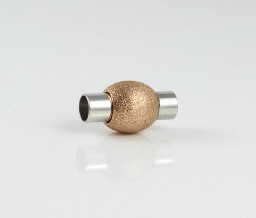 rosegolden Ø 4 mm Sternenstaub Edelstahl Magnetverschluss Stardust
