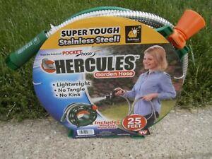 Hercules-Garden-Hose-Metal-25-Ft-Hose-INCLUDES-WIND-UP-REEL-Lifetime-Warranty