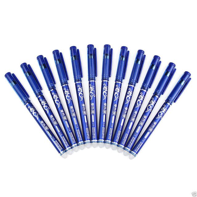 school and more 2x Erasable Ink Black /& Blue Gel Ink Pens Wrting pen for work