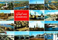Gruß aus Hamburg , ungel. AK.