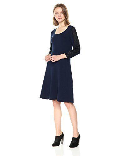 Nine West Women's 3 4 4 4 Fit & Flare Dress with Lace  - Choose SZ color cff996