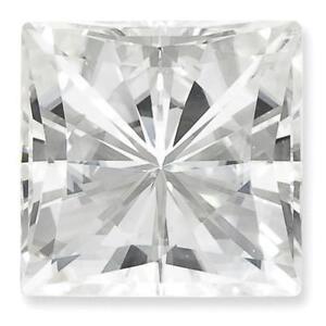 1 Prinzess Schliff Moissanit Weiß Brillant 10 Mm Durchmesser 5.97