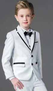 Custom Made Rose Red 3 Piece Boys Suits Wedding Tuxedo Flower Boys Prom Suits
