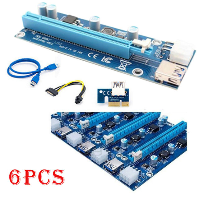 PCI-E PCI Express 16x to 16x Riser Card Extender Cable fr Bitcoin Miner Mining