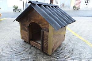CASETA de madera para perro, color nogal, maciza