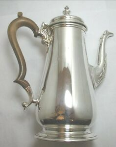 FANTASTIC-HEAVY-VINTAGE-FULLY-HALLMARKED-SOLID-SILVER-COFFEE-POT-IN-GREAT-ORDER