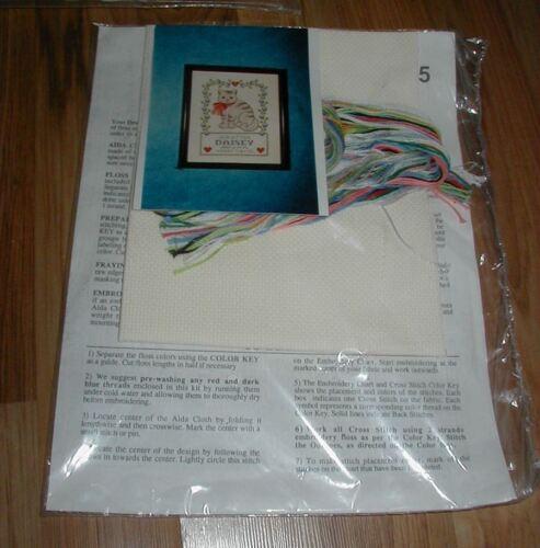 "Design Works KITTEN BIRTH SAMPLER Kit Hard to Find 8/"" x 10/"" Personalize"