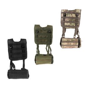Tactical H-Harness Waist Battle Belt Suspenders Hunting Molle Vest