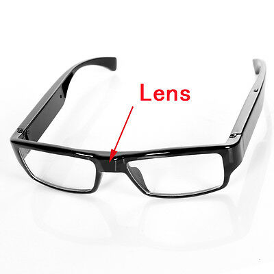 720P SPY Eyewear Video Camera NO HOLE HIDDEN LENS Security Cam Glasses