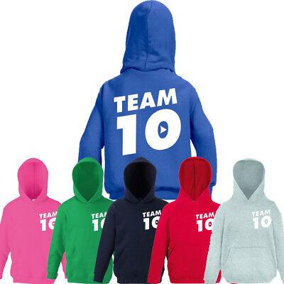 New Kids Children Team 10 JP JAKE PAUL Hoody Hoodies Cotton YOUTUBE Gift Top