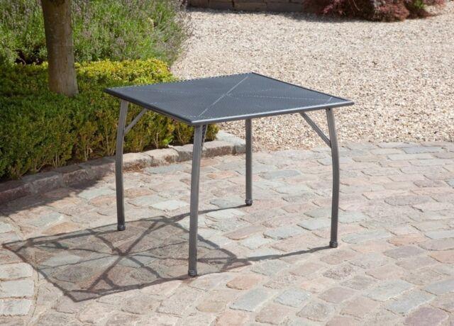 Gartentisch Toulouse 90x90cm Streckmetall Eisengrau Gunstig Kaufen