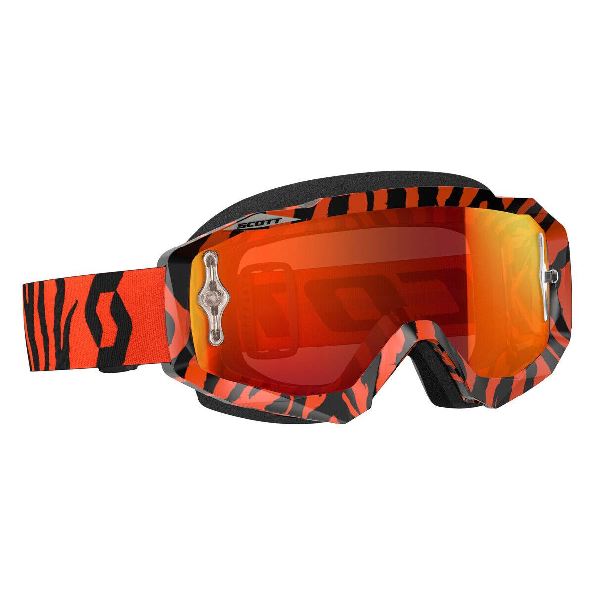 Scott Hustle MX Goggle Cross MTB Brille Orange schwarz Orange chrom works  | Bevorzugtes Material