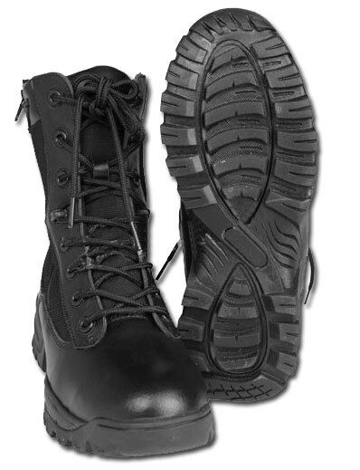 Táctica bota Two Zip Negro, Camping, Outdoor, Military -nuevo