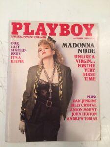 Playboy September 1985 ~ Madonna Nude/Last Stapled Issue
