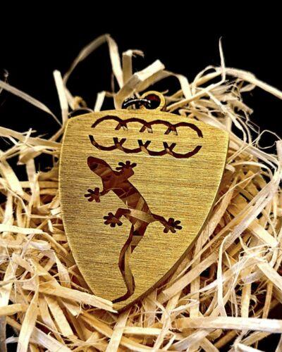 BrassTitaniumSteelBlued Audi keychain handmade, birthday gift