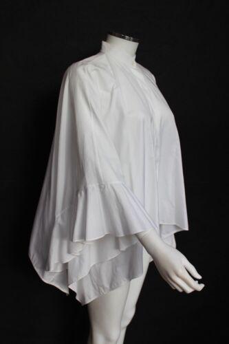 Valentino Nouveau 12 44 Uk Blanc It Shirt Cape AnwgdqCf