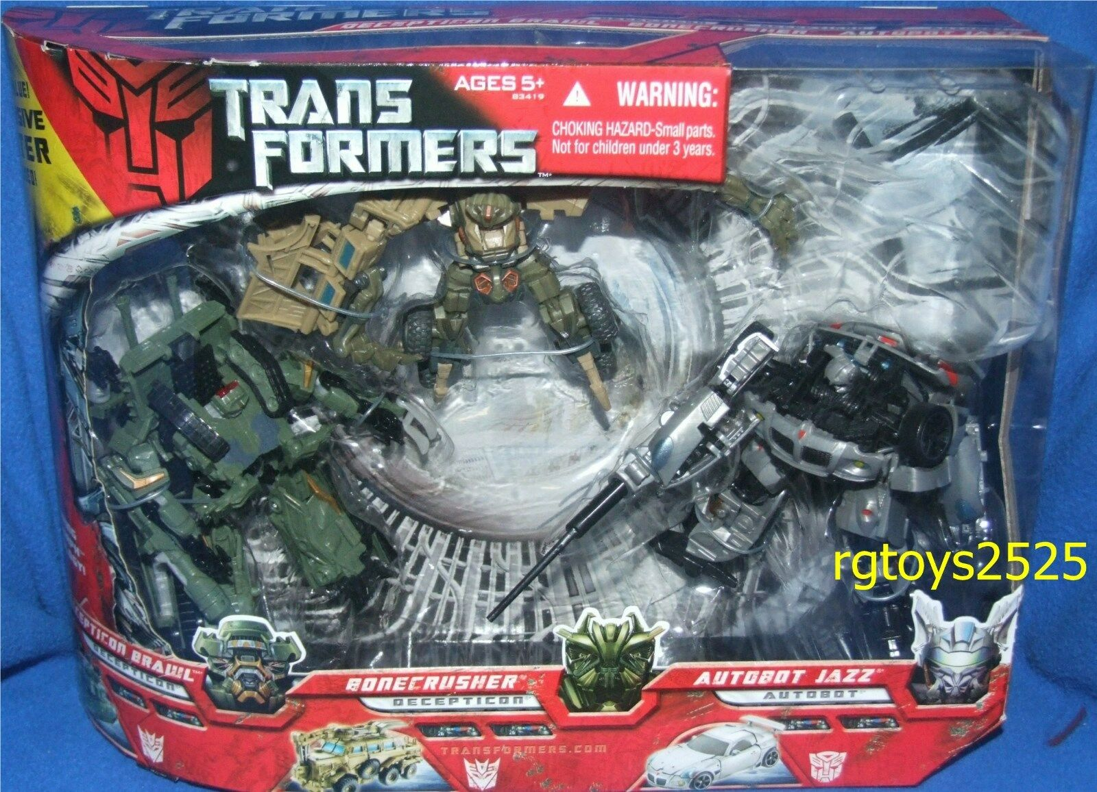 Transformers Movie Decepticon Brawl Bonecrusher & Autobot Jazz Nuovo Deluxe Class