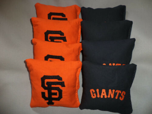 Cornhole bags San Francisco Giants SF corn hole bean bags 8 regulation size