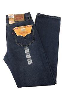 NUOVA-linea-uomo-Levis-originale-501-Denim-Jeans-Regular-Fit-Girovita-Taglia-30-32-34-36-38