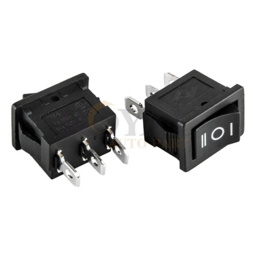 "SPDT 3-Position Rocker Switch 12V Car AC 6A//250V 3-Pin ON-OFF-ON 1//2/"" x 3//4/"" 2"