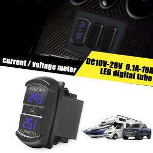 LED-Digital-Amp-Voltage-Meter-2-in-1-Current-Voltage-Tester-For-Boat-Truck-ATV