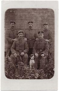 1-Weltkrieg-Soldaten-mit-Hund-Original-Photo-um-1915