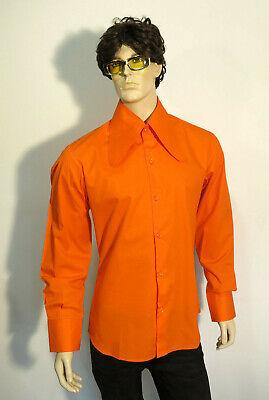70er Retro Dackelohrkragen Camicia Arancione * * * M * L * Xl * Nuovo * Party * Schlagermove * Dtk *-n Hemd *orange* *m*l*xl* Neu *party *schlagermove* Dtk* It-it Mostra Il Titolo Originale Buoni Compagni Per Bambini E Adulti