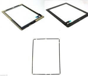 Apple iPad 2 Touch Screen Digitizer Glass A1397 Black +Frame and Adhesive