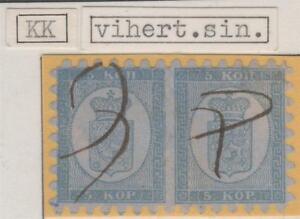 Finland-Pair-One-of-a-Kind-Manuscript-Cancel-5-Kop-1860-Exhibition-Item