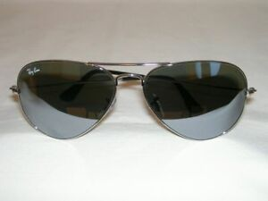 f69f2b2f61 New Ray Ban AVIATOR Sunglasses Silver RB 3025 W3275 Silver Mirror ...