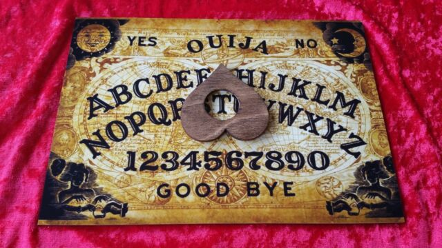 Wooden Ouija Board Game Planchette Instructions Spirit Hunt Bizarre