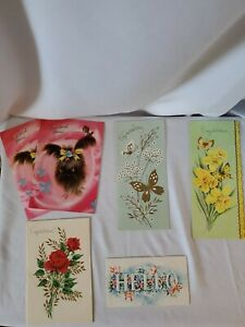 Lot-Of-6-Vintage-Greeting-Cards-Unused-A-Sunshine-Card-Brand-Made-in-USA-Slim