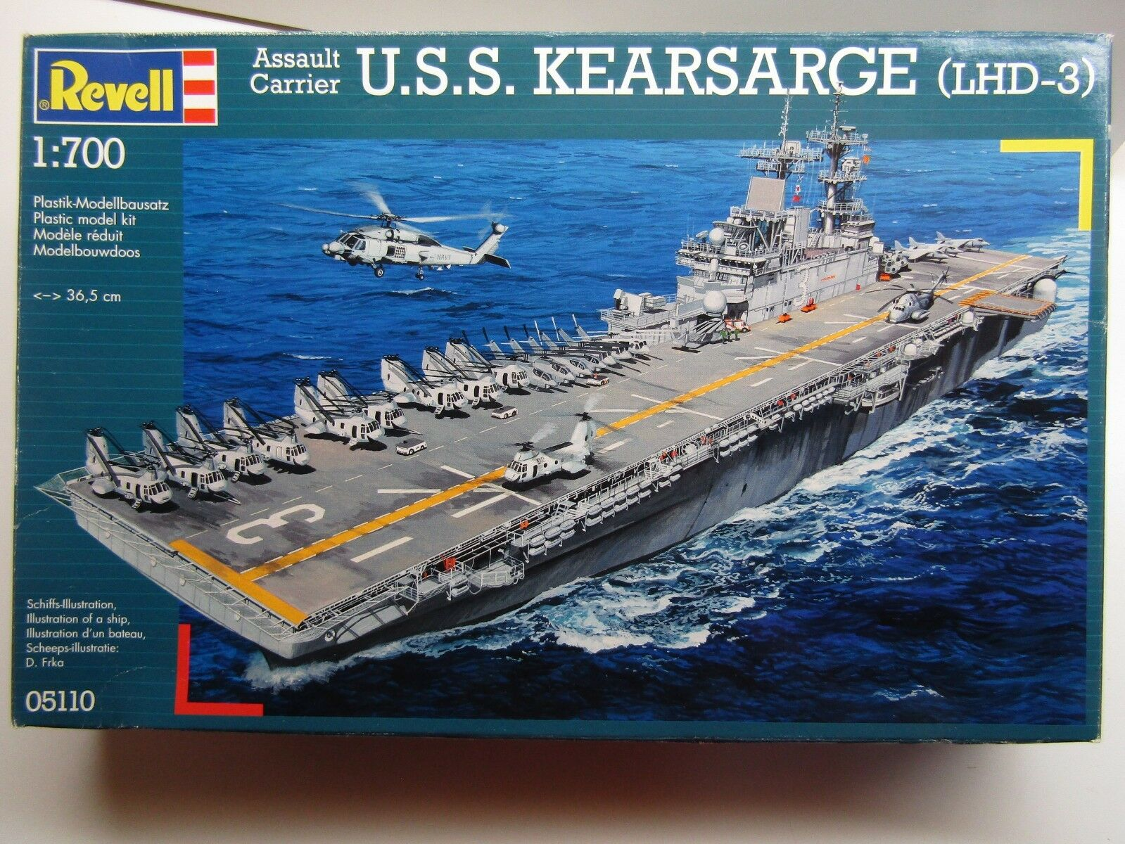 Revell 1 700 Scale U.S.S. Kearsarge (LHD-3) Carrier Model Kit New - Kit