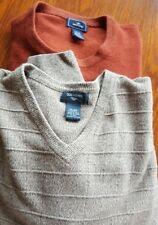 Set of 2 DOCKERS Men's Long Sleeve Sweaters size XL 100% Acrylic