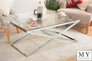 Annika Chrome Coffee table – eBay