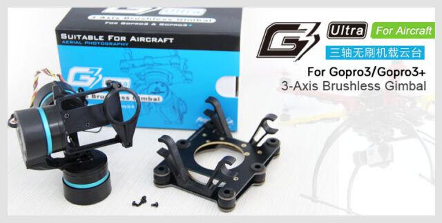 FeiYu FY-G3 Ultra 3-Axis Brushless Gimbal GoPro camera w firmware upgradeable