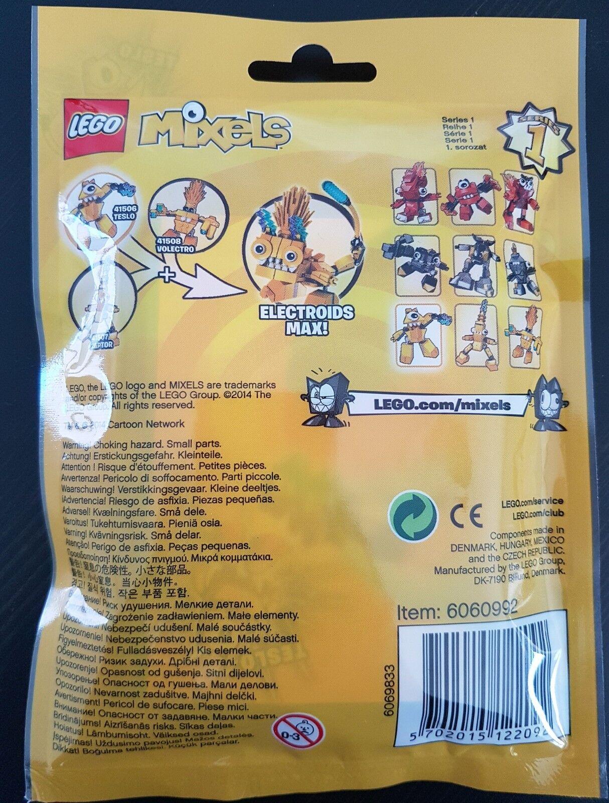 LEGO LEGO LEGO Mixels Teslo   Serie 1 Electroids   41506   gelb   NEU 5d88ee