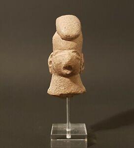 Tete-de-guerrier-Olmeque-Mexique-1150-a-550-avant-J-C-Precolombien-precolomb