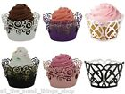 1 - 48 CAKE WRAPPER LAZER CUT CUPCAKE CASE WRAP WEDDING PARTY ART DECO ROSE