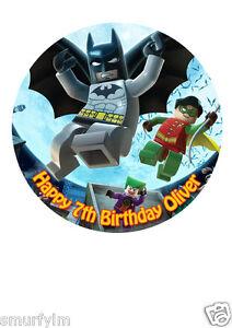 Image Is Loading Batman Marvel Superhero Birthday CAKE TOPPER PERSONALISED RICE