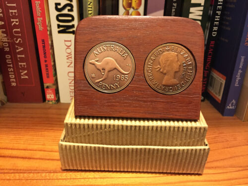 50th wedding anniversary plaque w// 1969 replica pennies other years available