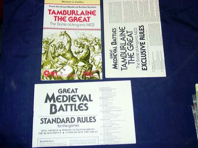 SPI Folio-TAMERLAN LE GRAND-la bataille de angorra, 1402 (non perforé)