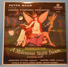 PETER MAAG A MIDSUMMER NIGHT'S DREAM LP MONO LONDON FFRR GREAT COND! VG+/VG++!!