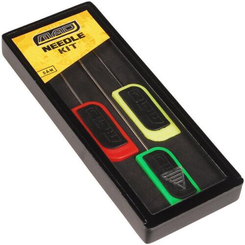 DAM Mad Needle Kit 3 Stück Karpfen Boilienadeln Boilienadel Set Sortiment NEU