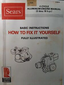 Details about Sears Teseh 3 to 10 hp Aluminum Engine Repair Service on