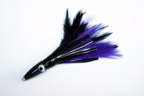 "NEW TACKLEWORKS 6/"" Tuna Feathers Trolling Lure Black//Purple"